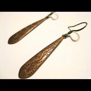 Jewelry - Brass Victorian dangles